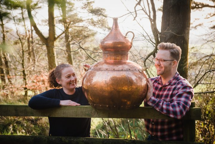 Rachel and Richard Trenchard, owners of Goosnargh Gin