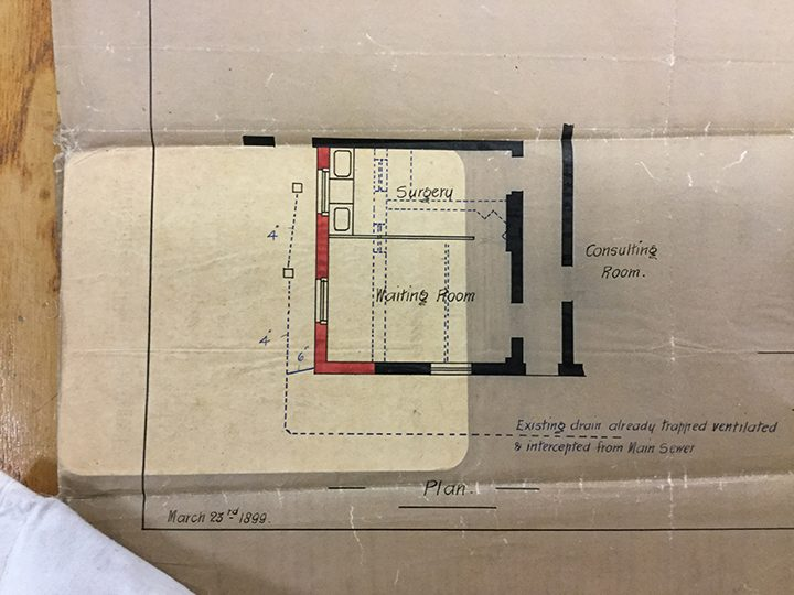 Plan of extension to Dardsley in 1899 from Lancashire Archives