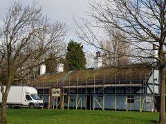 Repair work at Ye Olde Hob Inn