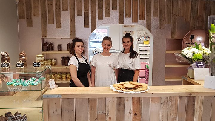 Kelly Kirkby - pictured centre - is the owner of Sugar Wishes