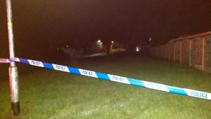 Police tape up at Levensgarth Avenue during Friday evening Pic: Blog Preston