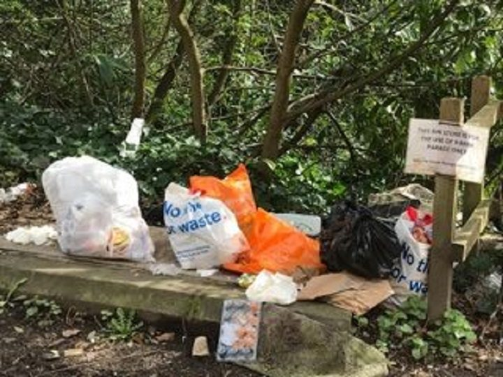 Some of the rubbish residents say has been dumped in Bank Parade Pic: Blog Preston