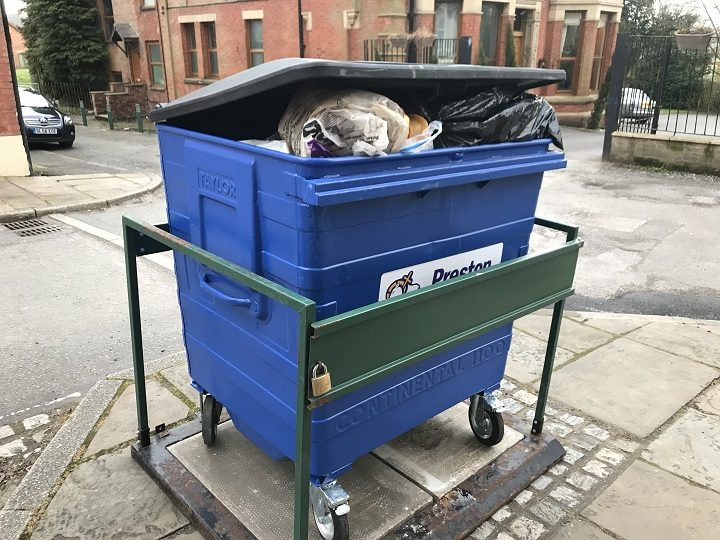 The bin for Bank Parade Pic: William Palmer