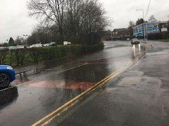 Surface water in Black Bull Lane Pic: Si Miller