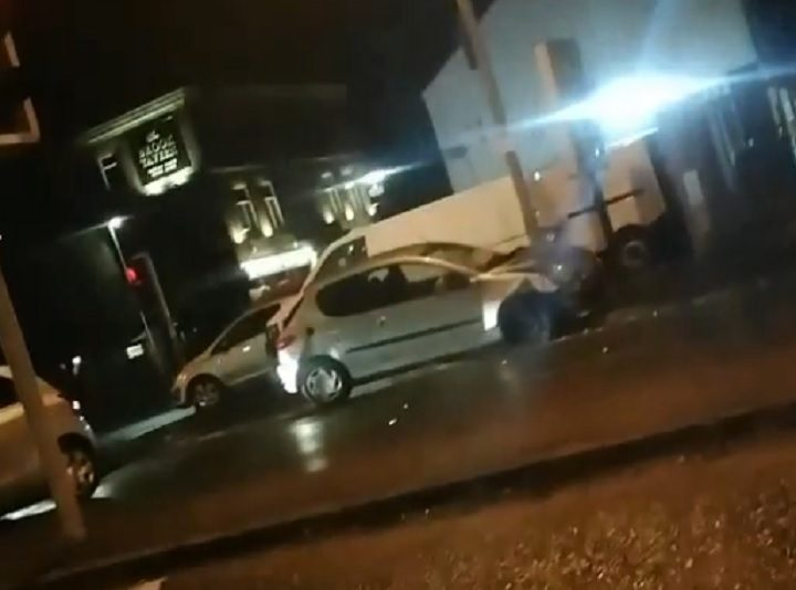 The scene in Brook Street on Wednesday evening Pic: Blog Preston