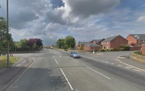 Chorley Road in Bamber Bridge was closed by police Pic: Google
