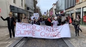 The climate change march in Fishergate during Friday Pic: Jack Dinsley