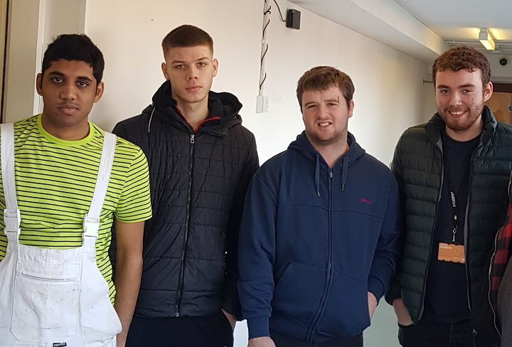 Preston's College students who did the decorating work