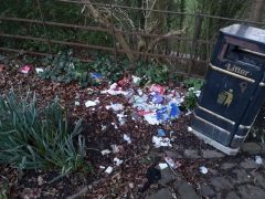 Fly-tipping at the entrance to Avenham Park Pic: Blog Preston