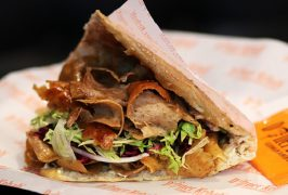 A German Doner Kebab from the chain