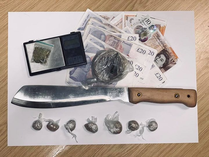 Drugs, knives and cash were recovered during the raids Pic: Preston Police