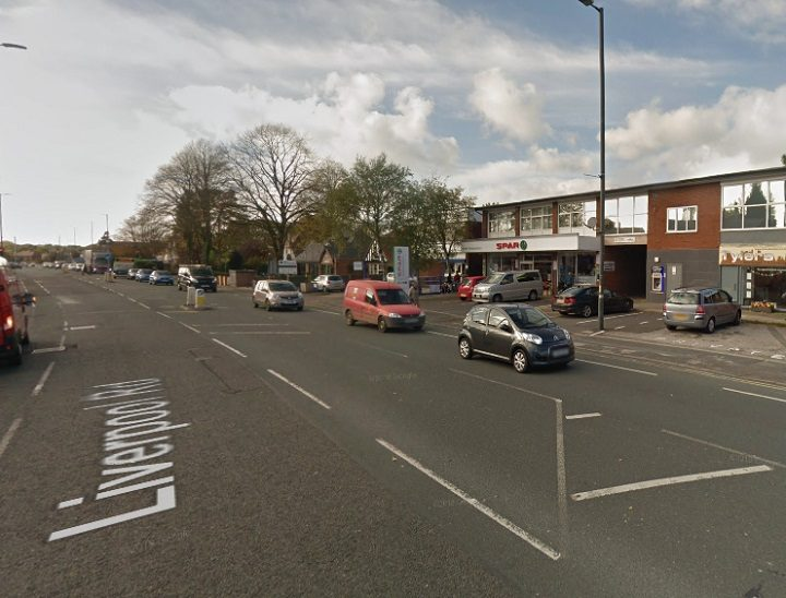 The incident began outside the Spar shop in Penwortham Pic: Google