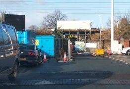 Lytham Road closed off by engineers Pic: Aik Mirpuri