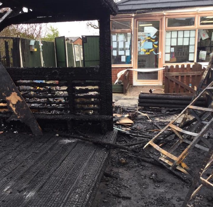 Another view of the fire damage at the nursery