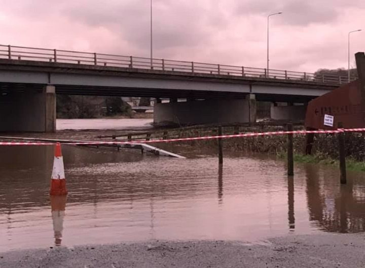 Roads around Brockholes were cut off as the River Ribble burst its banks Pic: Babs Keighley