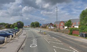 Police closed Chorley Road while the scene was dealt with Pic: Google