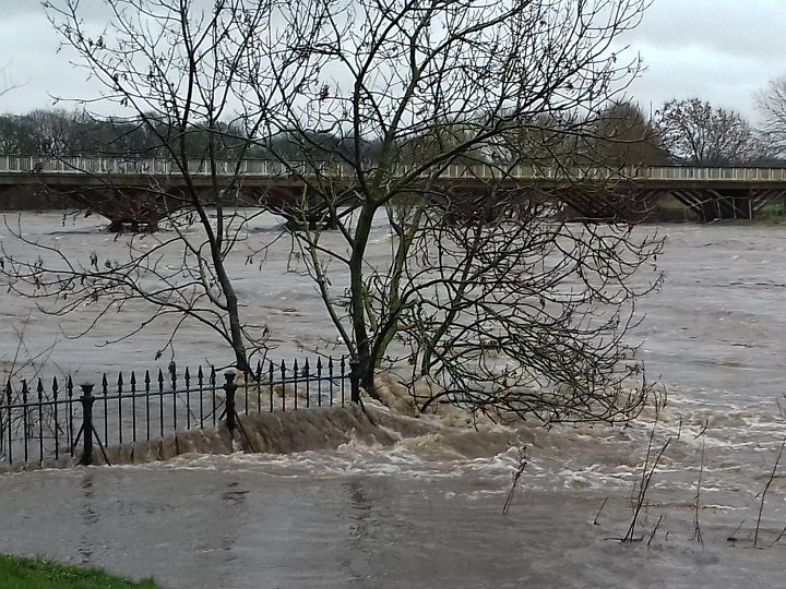 River Ribble in flood at Avenham Park Pic: Lisa Brown