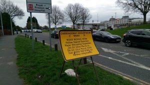 Sign up announcing Sharoe Green Lane roadworks Pic: Blog Preston