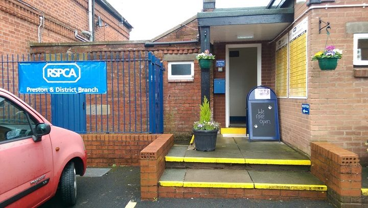 Entrance to the reopened RSPCA in Preston Pic: Blog Preston