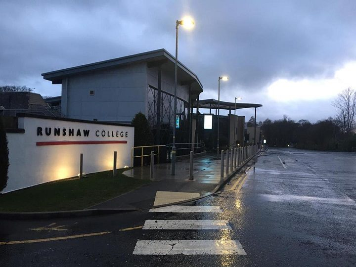 Runshaw College where the attack took place Pic: LancsLive