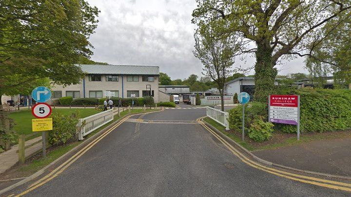 Entrance to Runshaw College Pic: Google