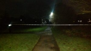 The police cordon as seen from Southey Close footpath Pic: Blog Preston