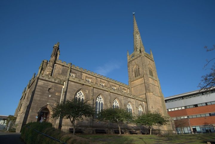 The former St Peter's Church is now an arts centre for the university Pic: Tony Worrall