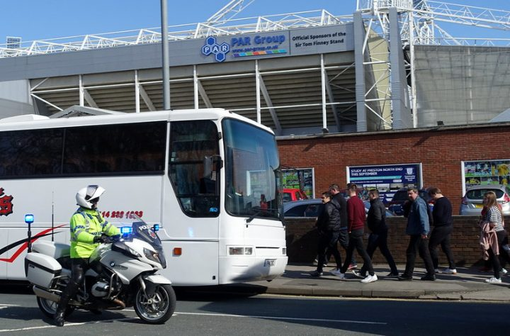 Coaches arriving at Deepdale Pic: Tony Worrall