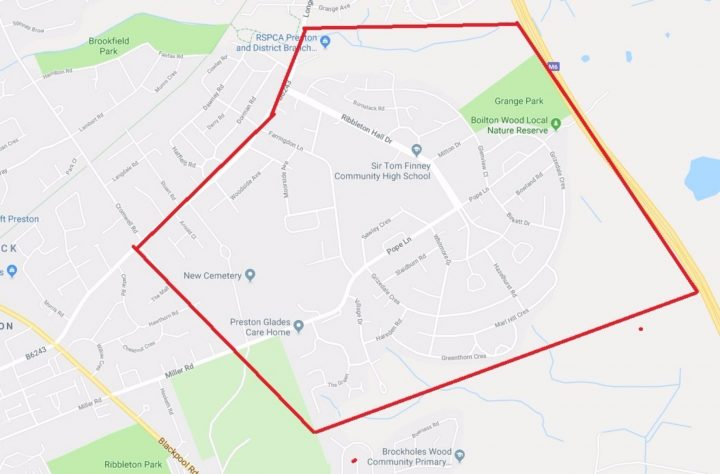 The Section 60 zone used in Ribbleton