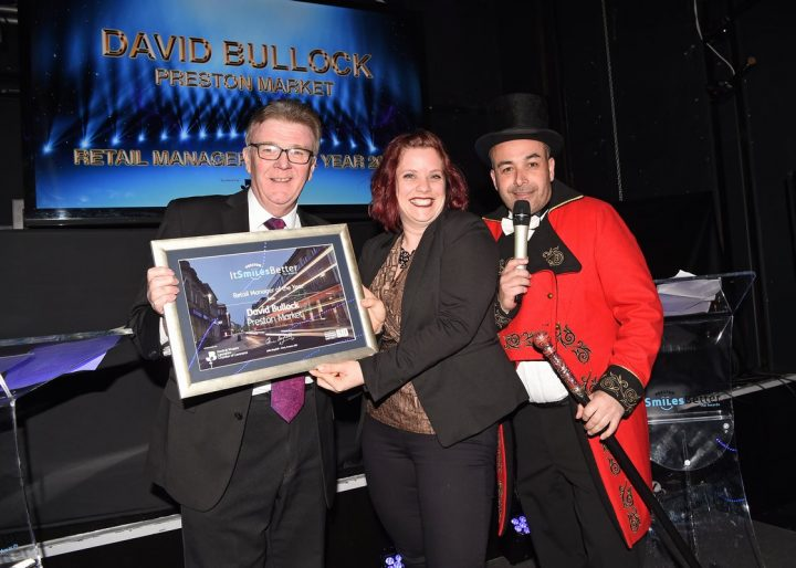 Shirah Bamber from Preston Council picked up the award for Dave Bullock