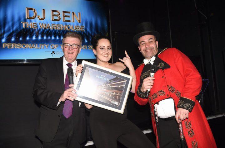 Lauren from The Warehouse picked up DJ Ben's Award