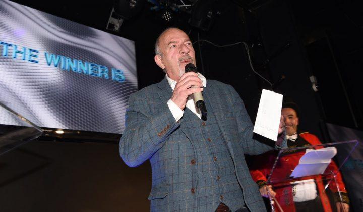 Paul Crone presenting awards
