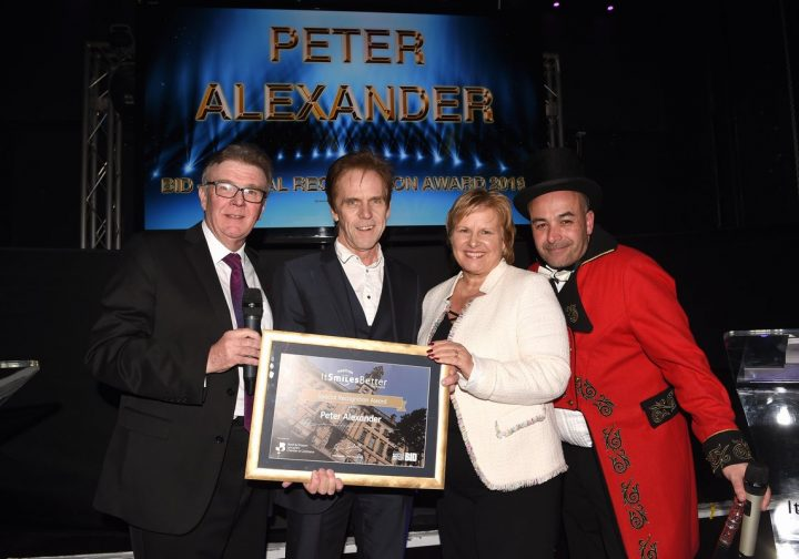Peter Alexander presented with his award