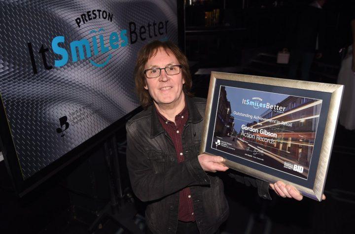 Gordon Gibson with his Outstanding Achievement Award