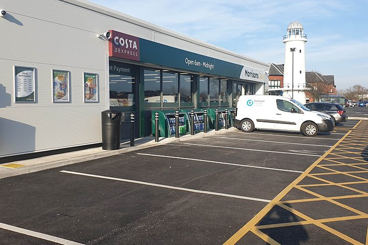 Morrisons petrol station at the Docks Pic: Ashton and Riversway PACT