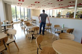 Inside the new cafe at The Range in Preston Pic: Tony Worrall