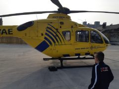 Air ambulance landing at Queen Street Pic: Andy Speariett/Blog Preston
