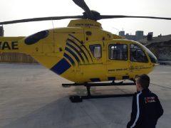 Air ambulance landing at Queen Street Pic: Andy Speariett/Blog Preston