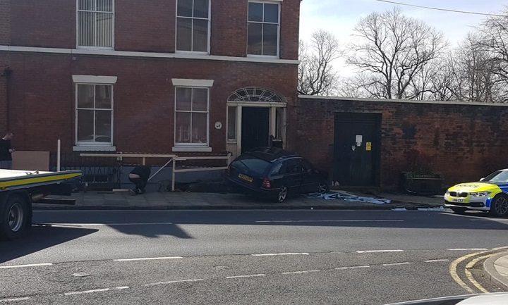 The scene in Avenham Lane at lunchtime Pic: Mark O'Rourke/LancsLive