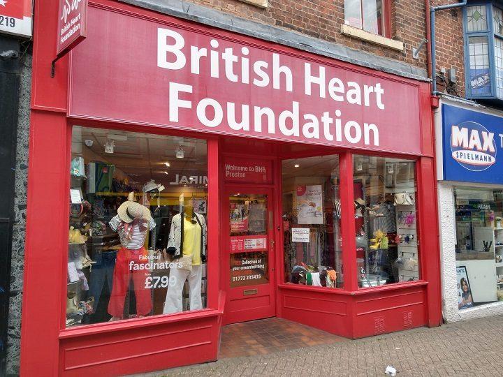 The British Heart Foundation shop in Orchard Street Pic: Blog Preston