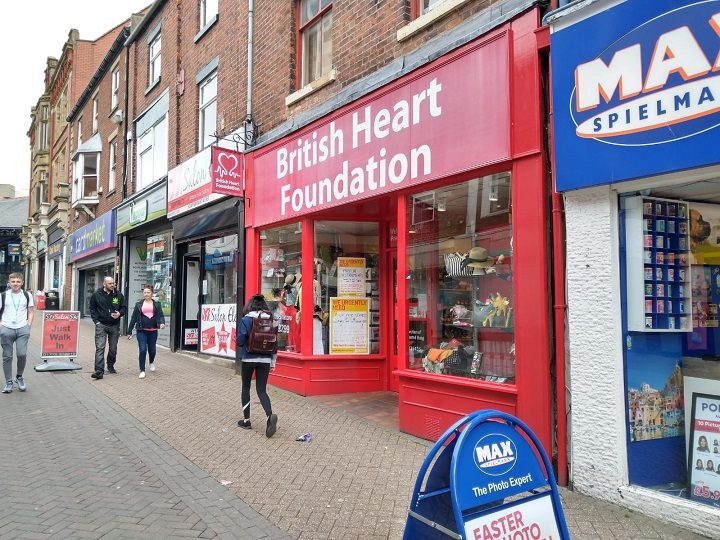 The charity shop was closed throughout Monday Pic: Blog Preston