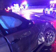 The crumpled side of the BMW Pic: Shabnam Ajmal/Blog Preston