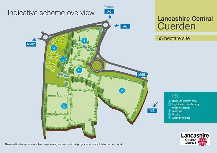 A masterplan for the new proposals for Cuerden