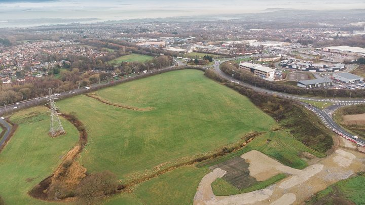 Another aerial view of the Cuerden site