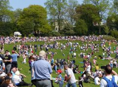 A sea of people in Avenham Park Pic: Jim Beattie