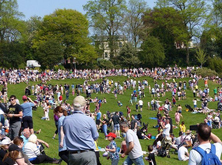 A sea of people in Avenham Park Pic: Jim Beattie