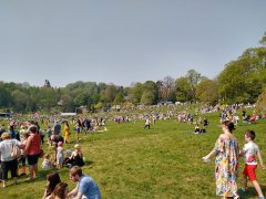 The good weather brought huge crowds out for the egg rolling tradition at Avenham Park Pic: Blog Preston