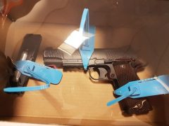 The imitation gun found in the raids Pic: Preston Police