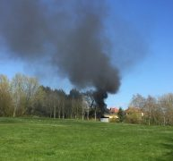 Smoke seen coming from an outbuilding near the golf club Pic: Samantha Walkden/Blog Preston