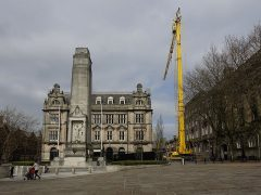 You can't miss the big yellow crane in the city centre Pic: 70023venus2009